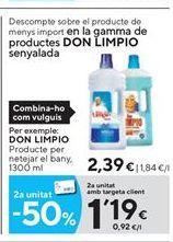 Oferta de Limpiadores Don Limpio por 2,39€