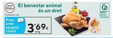 Oferta de Pollo eroski natur por 3,69€