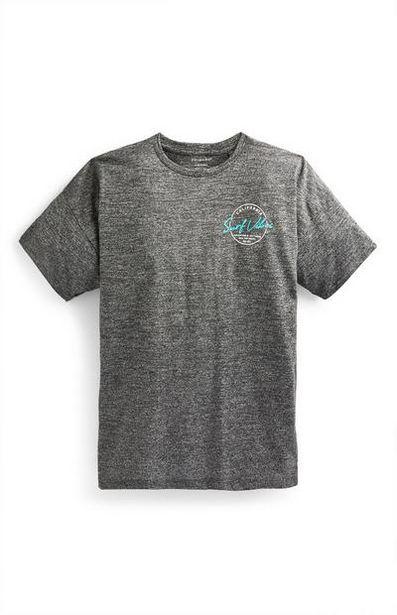 Oferta de Camiseta gris marengo con estampado de California para niño mayor por 7€