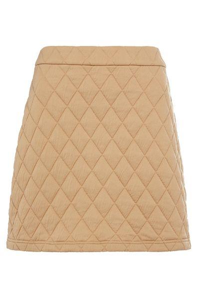 Oferta de Minifalda acolchada de punto beige por 10€