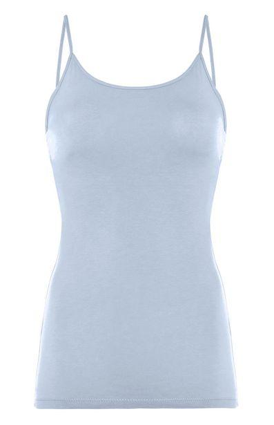 Oferta de Camiseta de tirantes elástica azul claro por 2,3€