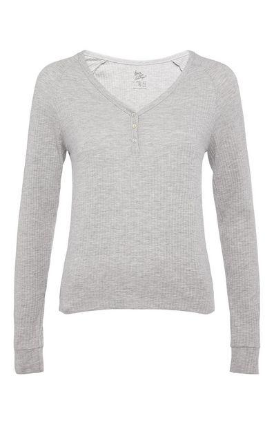 Oferta de Camiseta de manga larga gris claro por 6€