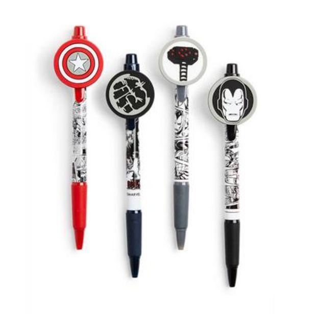 Oferta de Pack de 4 bolígrafos de Marvel por 3,5€