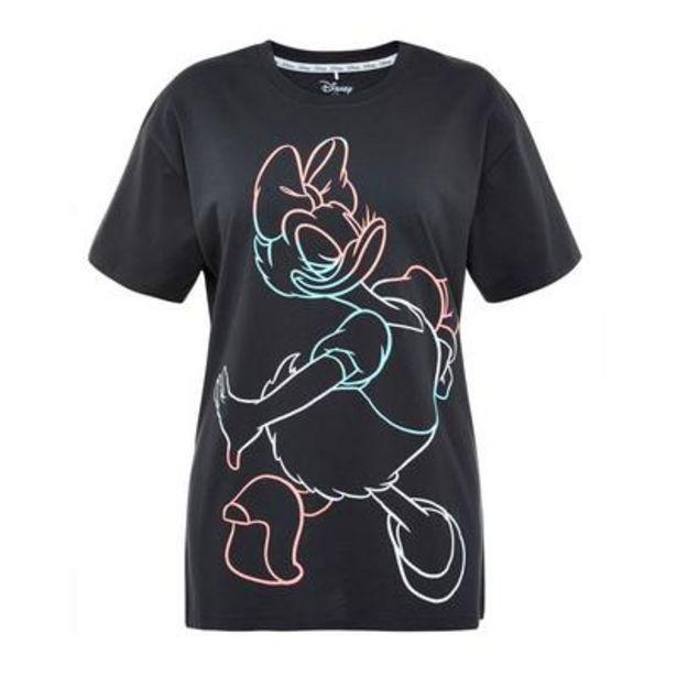Oferta de Camiseta negra con estampado neón de Disney Friends por 10€