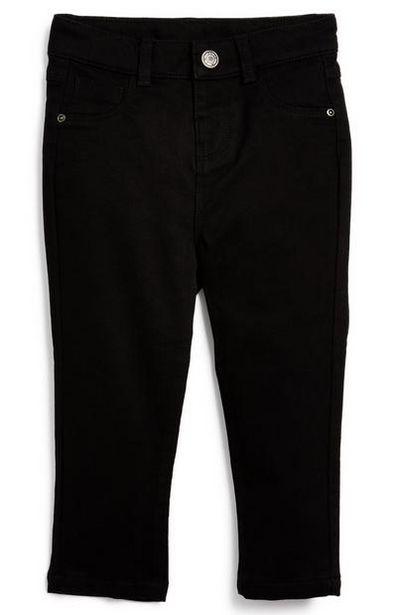 Oferta de Pantalón pitillo negro de sarga para bebé niño por 6€