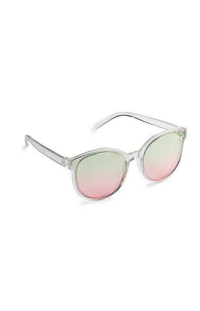 Oferta de Gafas de sol transparentes con lentes tintadas degradadas por 2€