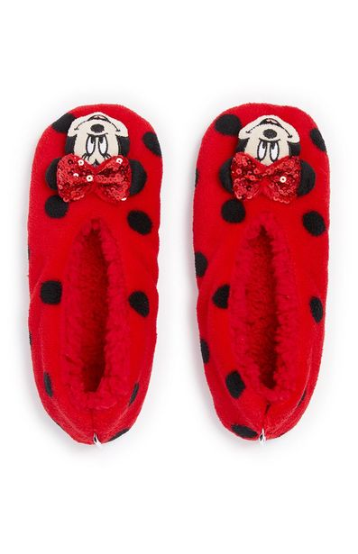 Oferta de Pantuflas rojas de Minnie Mouse para niña por 5€