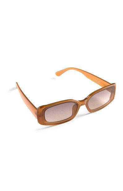 Oferta de Gafas de sol rectangulares finas naranjas por 3€