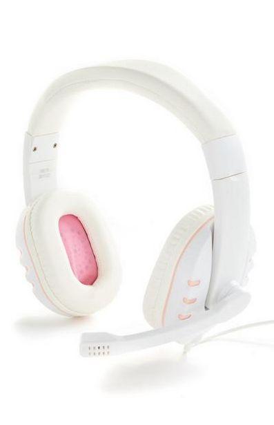 Oferta de Auriculares para juegos rosa y blanco por 12€