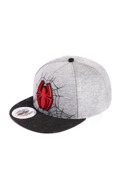 Oferta de Gorra negra y gris de Spiderman con visera plana por 7€