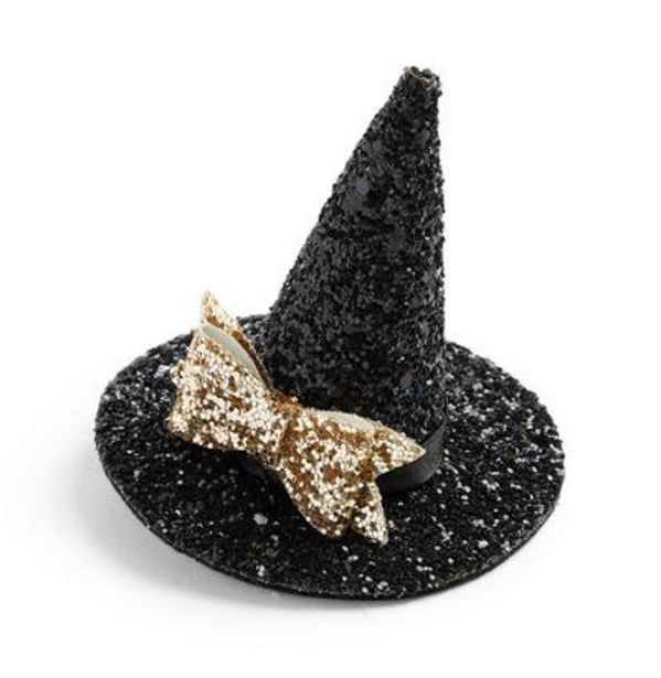 Oferta de Clip para el pelo negro brillante en forma de gorro de bruja para Halloween por 3€