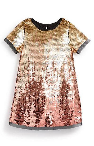 Oferta de Vestido de fiesta con degradado de color para niña pequeña por 16€