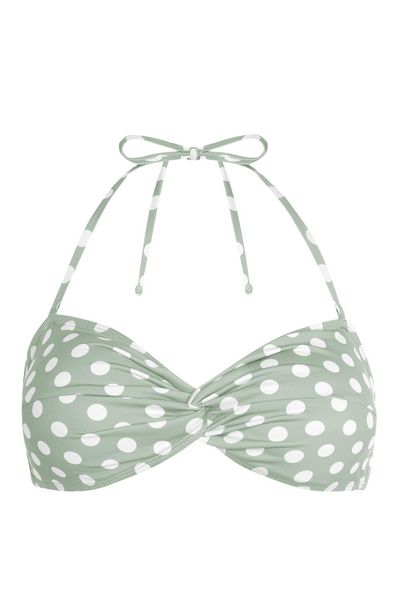 Oferta de Top de bikini triangular moldeado verde claro por 6€