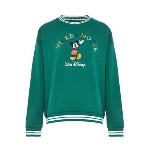 Oferta de Jersey verde con bordado de Mickey Mouse de Disney por 14€