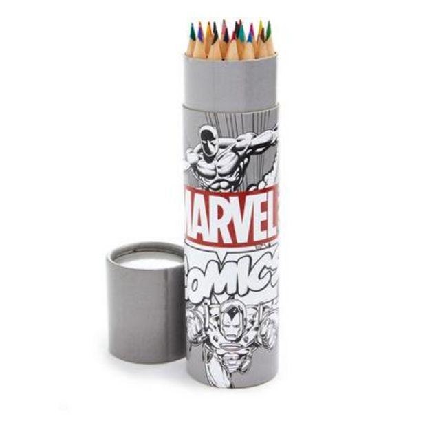 Oferta de Tubo de lápices para colorear de Marvel por 3€