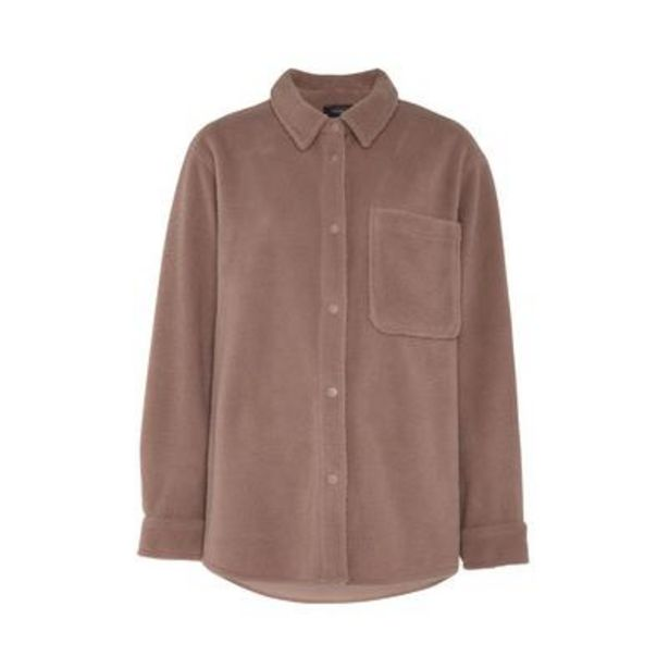 Oferta de Camisa color visón de felpa por 13€