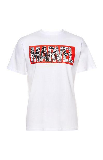 Oferta de Camiseta blanca con estampado de cómic de Marvel por 10€
