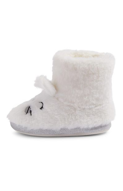 Oferta de Botines blancos con conejitos para niña pequeña por 8€
