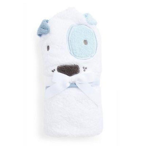 Oferta de Capa de baño blanca con diseño de perro para bebé niño por 7€