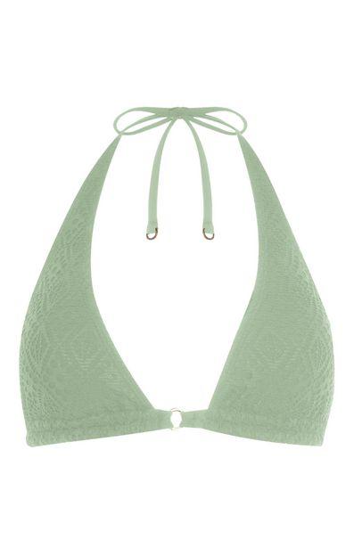 Oferta de Top de bikini triangular verde claro por 6€
