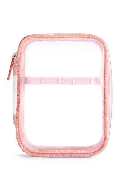 Oferta de Neceser de viaje transparente de la línea Peachy de SD Beauty por 5€