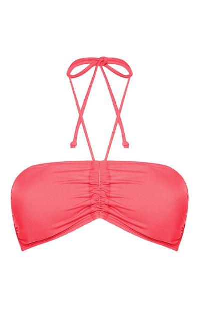 Oferta de Top de bikini bandeau color coral para combinar por 2,5€