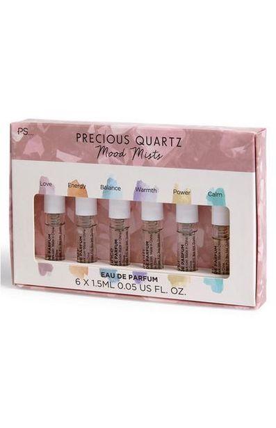 Oferta de Pack de 6 brumas corporales Precious Quartz Mood por 3,5€
