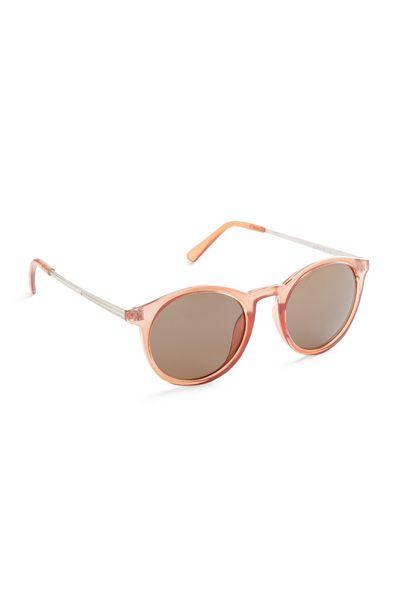 Oferta de Gafas de sol redondas estilo preppy color melocotón por 3€