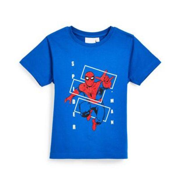 Oferta de Camiseta azul de Spiderman para niño pequeño por 4,5€