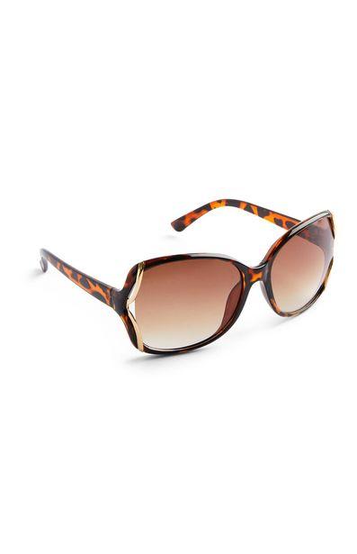 Oferta de Gafas de sol extragrandes marrones de carey por 3€