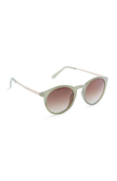 Oferta de Gafas de sol redondas estilo preppy verdes por 3€