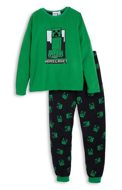 Oferta de Pijama de felpa verde de Minecraft para niño mayor por 11€
