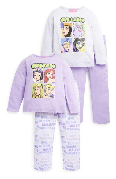 Oferta de Pack de dos pijamas de princesas Disney para niña pequeña por 13€