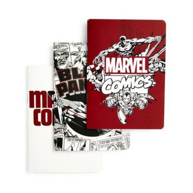 Oferta de Pack de 3 cuadernos A6 de Marvel por 2,5€