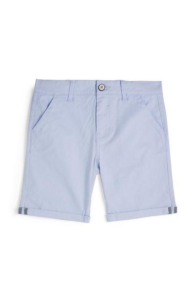 Oferta de Pantalón corto chino azul claro para niño pequeño por 7€