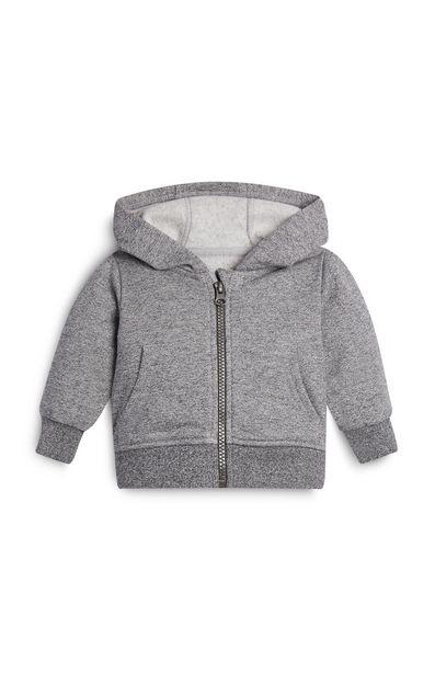 Oferta de Sudadera con capucha gris para bebé niño por 6€