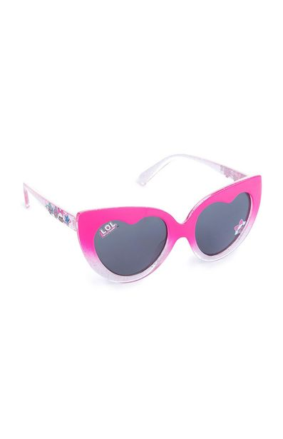 Oferta de Gafas de sol rosas en forma de corazón y mensaje «LOL» para niña pequeña por 3€