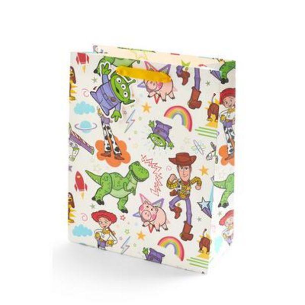 Oferta de Bolsa de regalo con estampado de Toy Story de color marfil por 2€