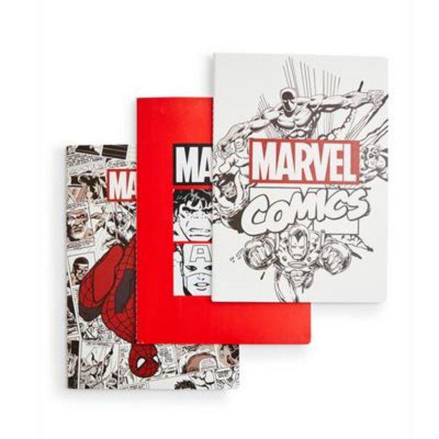 Oferta de Pack de 3 cuadernos A4 de Marvel por 6€