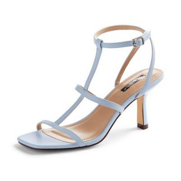 Oferta de Sandalias azul claro con tiras en T por 16€