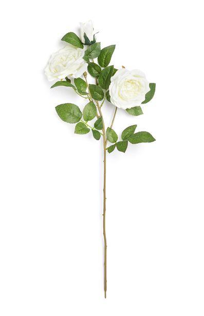Oferta de Rama sintética con rosas de color blanco por 2€