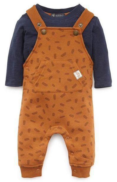 Oferta de Conjunto de peto color mostaza para bebé niño por 14€