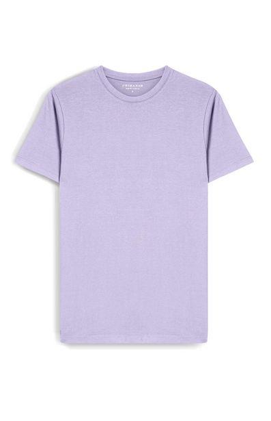 Oferta de Camiseta ajustada lila claro por 4€