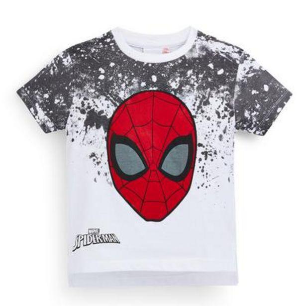 Oferta de Camiseta blanca de Spiderman con efecto degradado para niño pequeño por 7€