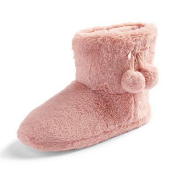 Oferta de Botines de andar por casa rosas con pompón por 6€