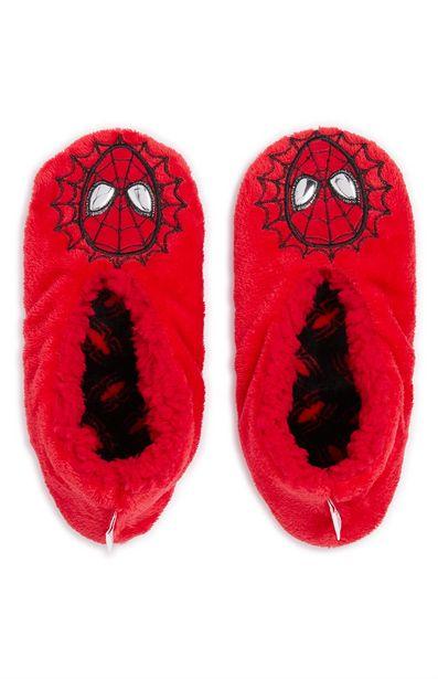 Oferta de Pantuflas rojas de Spiderman para niño por 5€