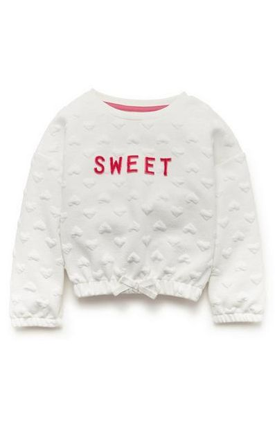 Oferta de Suéter acolchado blanco para niña pequeña por 8€