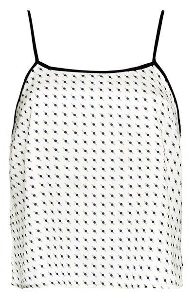 Oferta de Camiseta de tirantes con estampado geométrico blanco y negro por 7€