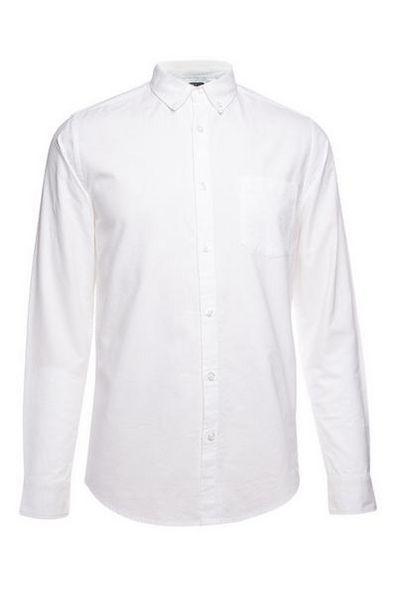 Oferta de Camisa Oxford de manga larga blanca por 10€