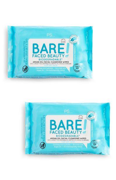 Oferta de Toallitas biodegradables Bare Faced Beauty por 1,5€